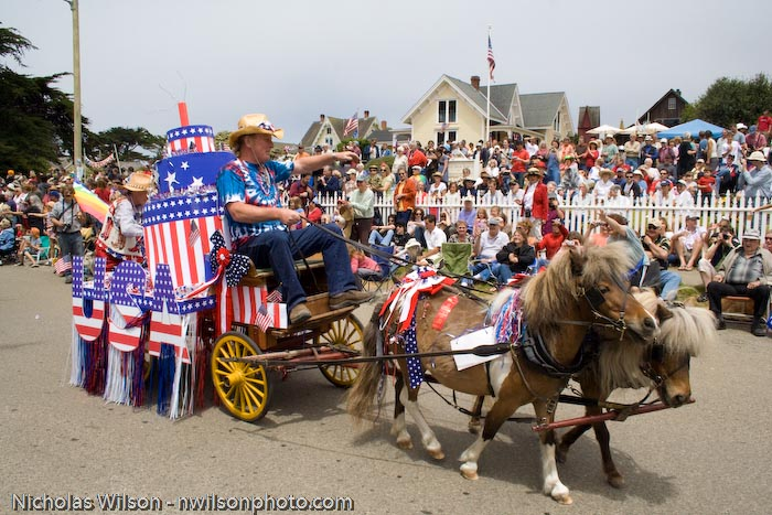 July 4, 2008 parade in Mendocino CA
