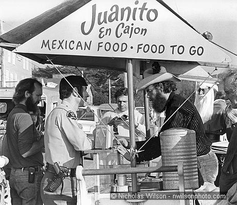 John Griffith's taco cart gets busted, 1977