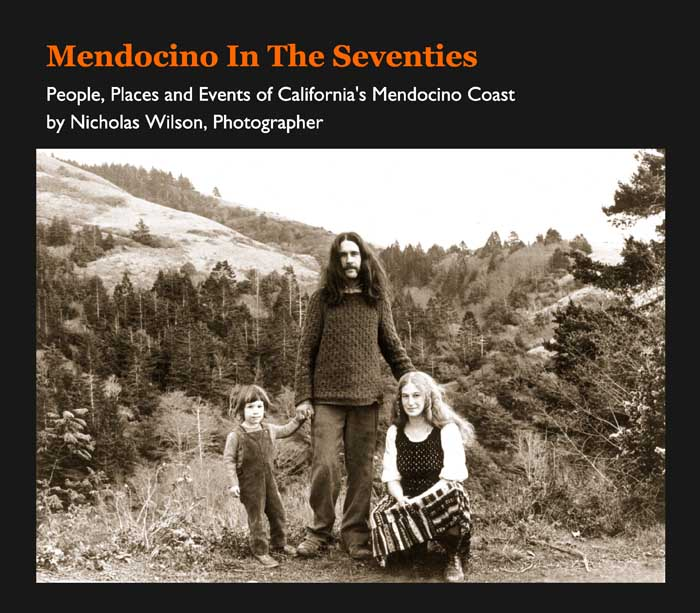 Mendocino in the Seventies draft book cover